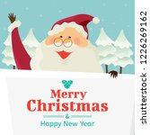 santa claus with big signboard  ...   Shutterstock .eps vector #1226269162