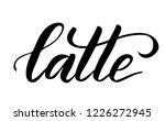 black brush calligraphy latte... | Shutterstock .eps vector #1226272945