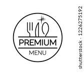 restaurant menu. flat design....   Shutterstock .eps vector #1226275192