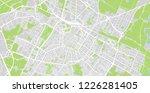 urban vector city map of modena ... | Shutterstock .eps vector #1226281405