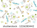 elephant giraffe and crocodile... | Shutterstock .eps vector #1226283442