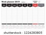 Week Planner 2019 Calendar ...