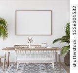 mock up poster in tropical...   Shutterstock . vector #1226301532