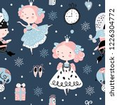 seamless childish pattern with... | Shutterstock .eps vector #1226304772