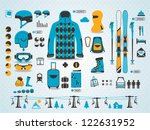 ski info graphics  vector... | Shutterstock .eps vector #122631952