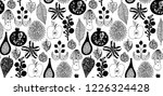 forest pattern with fruits ... | Shutterstock .eps vector #1226324428