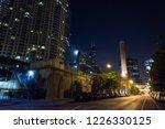 chicago night street scene with ...   Shutterstock . vector #1226330125