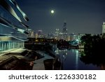 chicago night skyline with the...   Shutterstock . vector #1226330182