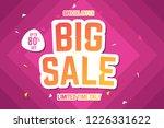 big sale banner template. sale... | Shutterstock .eps vector #1226331622