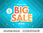 big sale banner template. sale... | Shutterstock .eps vector #1226331628
