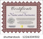 red certificate or diploma... | Shutterstock .eps vector #1226334502