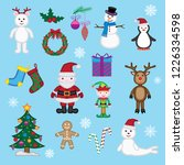 cute christmas icons and... | Shutterstock .eps vector #1226334598