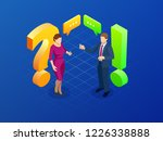 isometric question and answer... | Shutterstock .eps vector #1226338888