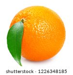 fresh one orange fruit with... | Shutterstock . vector #1226348185