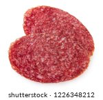 salami smoked sausage slices... | Shutterstock . vector #1226348212
