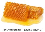 honeycomb with honey isolated... | Shutterstock . vector #1226348242