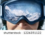 Close Up Of The Ski Goggles Of...