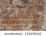 Old Brick Wall In A Background...