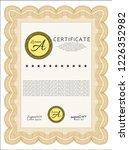 orange sample certificate or... | Shutterstock .eps vector #1226352982