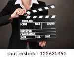 movie production clapper board...   Shutterstock . vector #122635495