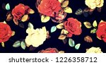 wide vintage seamless... | Shutterstock . vector #1226358712