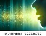equalizer sound wave background ... | Shutterstock . vector #122636782