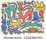 hand drawn vector illustrations ... | Shutterstock .eps vector #1226386702
