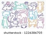hand drawn vector illustrations ... | Shutterstock .eps vector #1226386705