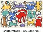 hand drawn vector illustrations ... | Shutterstock .eps vector #1226386708