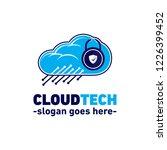 cloud tech logo. vector and... | Shutterstock .eps vector #1226399452