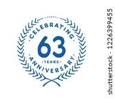 63 years design template. 63rd... | Shutterstock .eps vector #1226399455