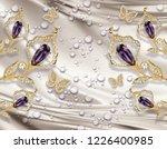 3d wallpaper  jewelry  calla... | Shutterstock . vector #1226400985