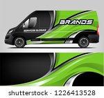 van livery design. company van...   Shutterstock .eps vector #1226413528
