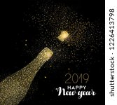 happy new year 2019 gold... | Shutterstock .eps vector #1226413798