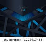 abstract 3d background with... | Shutterstock .eps vector #1226417455