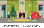 christmas party in the living... | Shutterstock .eps vector #1226419342