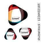 set of geometric shape...   Shutterstock .eps vector #1226432185