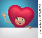 cute red  cartoon character.... | Shutterstock . vector #122643352
