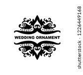 wedding ornament vector...   Shutterstock .eps vector #1226449168