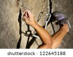 Rock Climbing Abstract Hand An...
