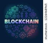 vector blockchain round concept ...   Shutterstock .eps vector #1226468965