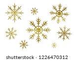 set of golden glitter... | Shutterstock . vector #1226470312