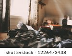 cozy winter day at home with... | Shutterstock . vector #1226473438