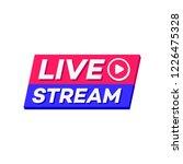 live stream icon 3d bold style...