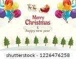 merry christmas  santa claus...   Shutterstock .eps vector #1226476258