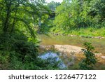Wooded Creek Running Under A...