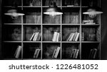 black and white photo. library. ... | Shutterstock . vector #1226481052
