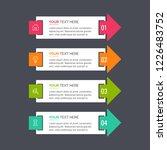 modern infographics template | Shutterstock .eps vector #1226483752
