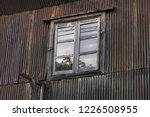 view from the old window and... | Shutterstock . vector #1226508955