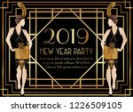 2019 new year gatsby art deco... | Shutterstock .eps vector #1226509105